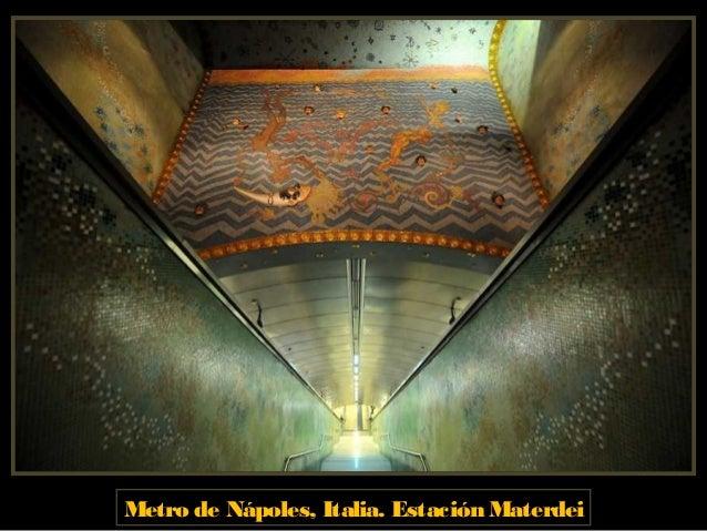Metro de Nápoles, Italia. Estación Dante