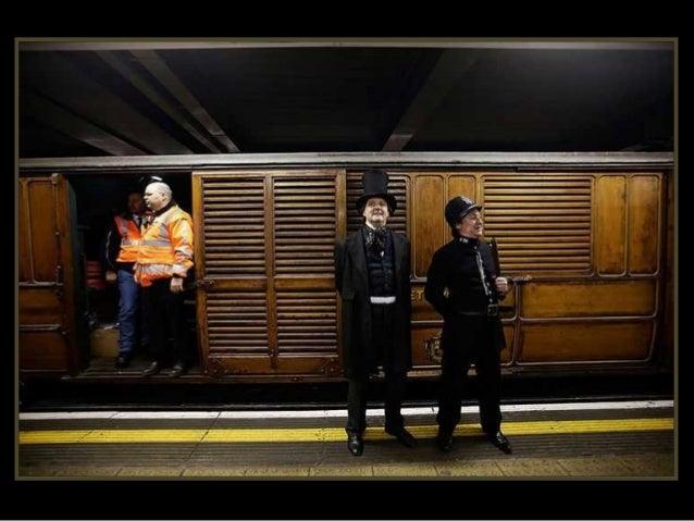 Boris Johnson, Alcalde de Londres, durante el recorrido para conmemorarel 150 aniversario del primerMetro de Londres.