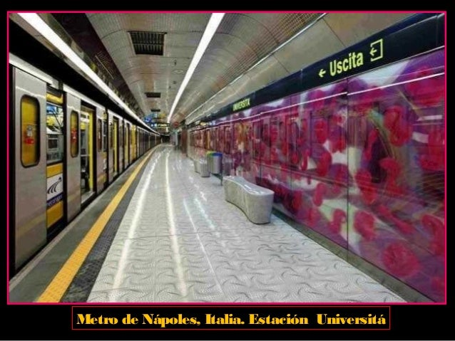 Metro de Nápoles, Italia. Estación Universitá