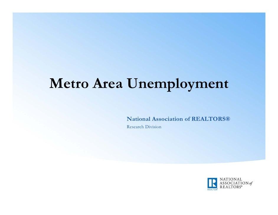 Metro Area Unemployment