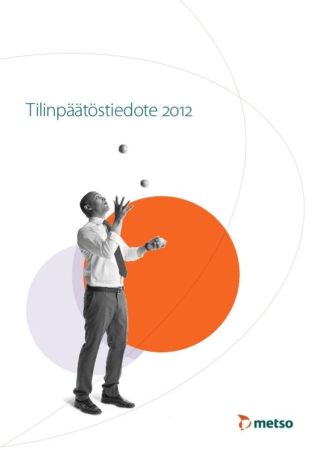 Tilinpäätöstiedote 2012