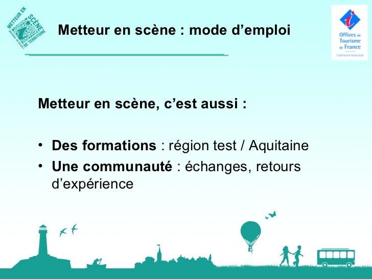 La campagne dans l'avenirLes prochaines étapes de la campagne :• « Metteur en scène de territoire » au séminaire des Relai...