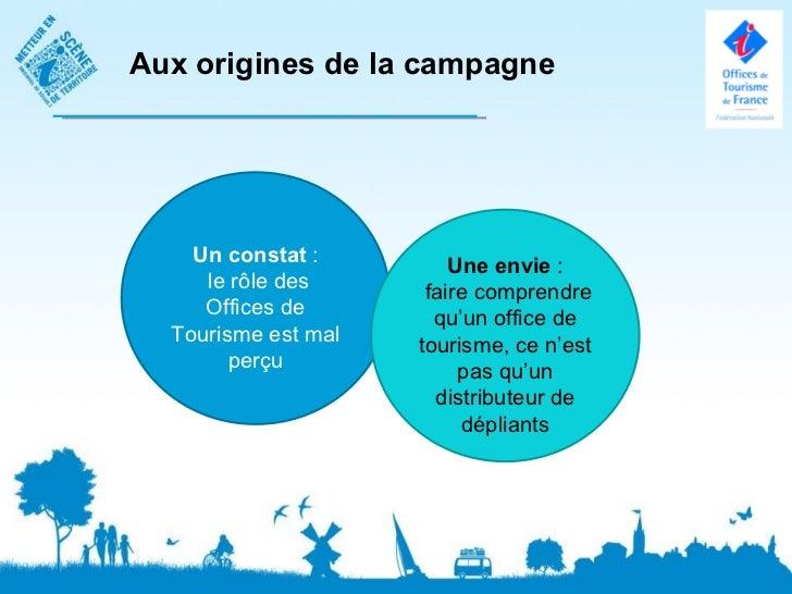 Aux origines de la campagne    Un constat :         Une envie :     le rôle des      faire comprendre     Offices de      ...