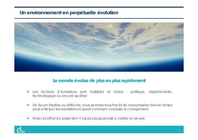 2 Un environnement en perpétuelle évolution Le monde évolue de plus en plus rapidement Les facteurs d'évolutions sont mult...
