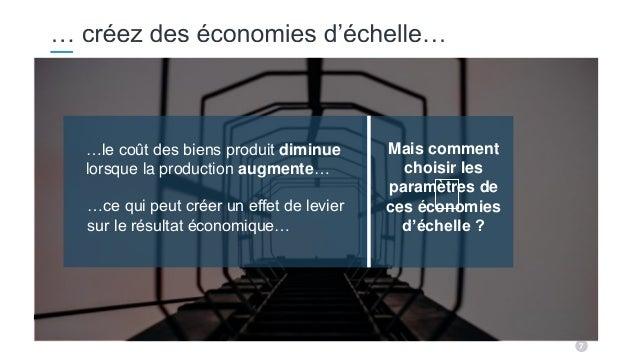 7 Mais comment choisir les paramètres de ces économies d'échelle ? …le coût des biens produit diminue lorsque la productio...