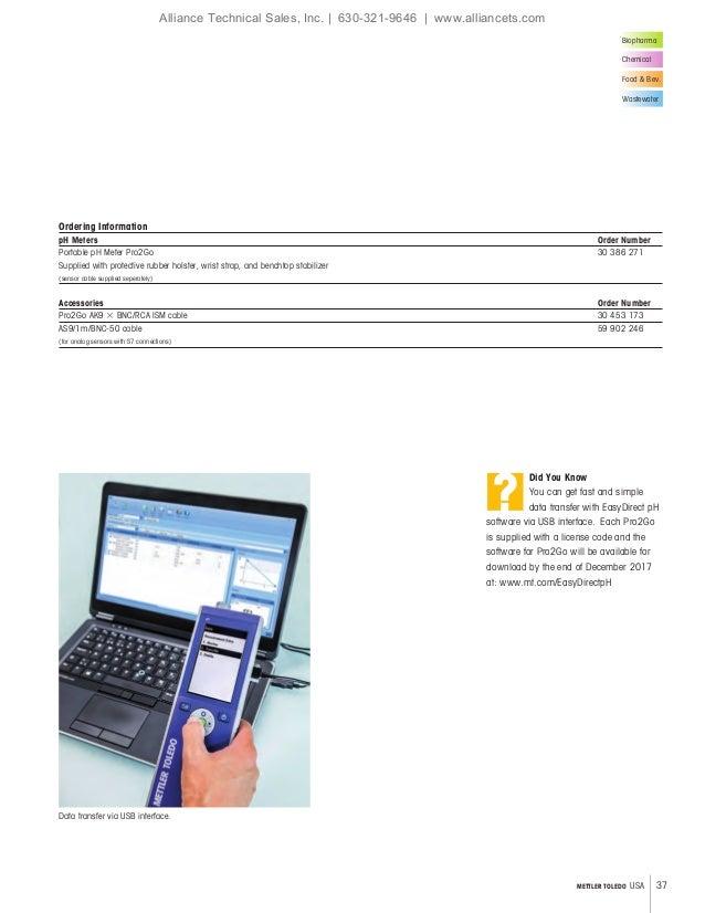 Mettler Toledo Process Analytics Catalog 2018-2019