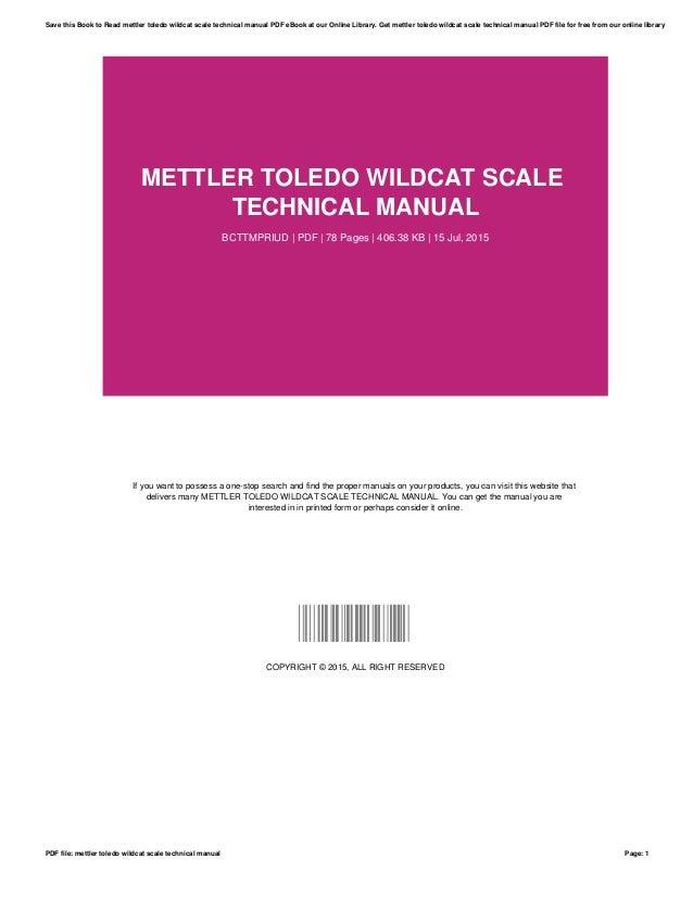 Mettler toledo-wildcat-scale-technical-manual