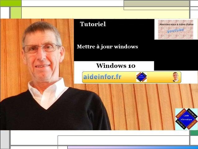 Mettre à jour windows