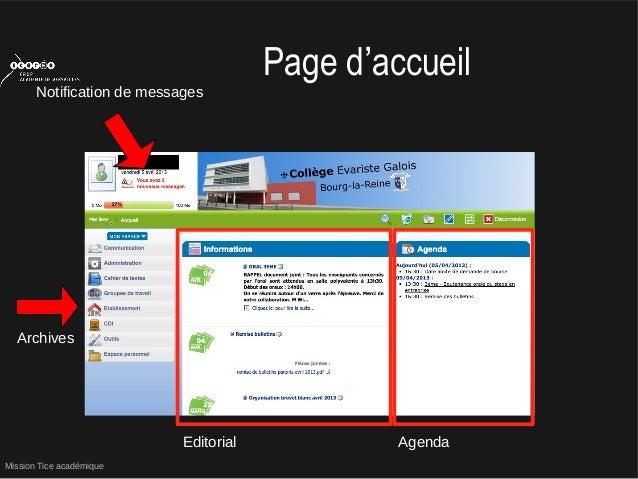Mission Tice académiquePage d'accueilNotification de messagesEditorial AgendaArchives