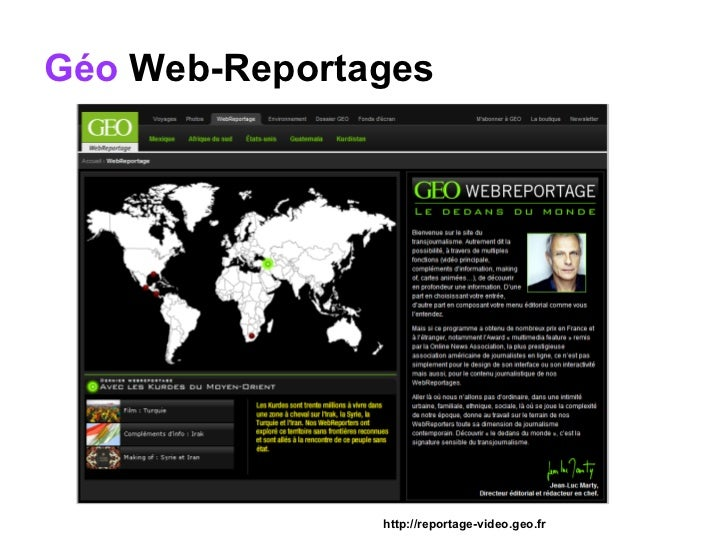 Géo  Web-Reportages http://reportage-video.geo.fr
