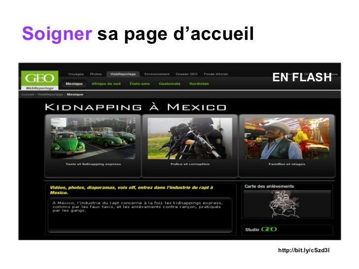 Soigner  sa page d'accueil http://bit.ly/cSzd3l EN FLASH