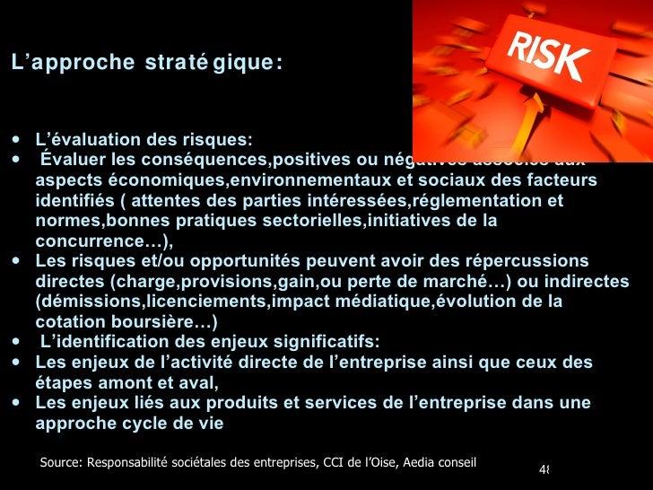 <ul><li>L'approche stratégique: </li></ul><ul><li>L'évaluation des risques: </li></ul><ul><li>Évaluer les conséquences,pos...
