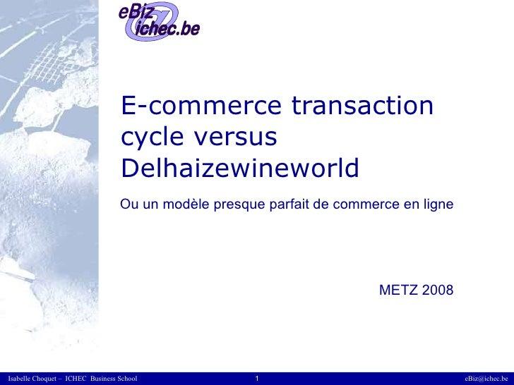 E-commerce transaction cycle versus Delhaizewineworld  Ou un modèle presque parfait de commerce en ligne METZ 2008
