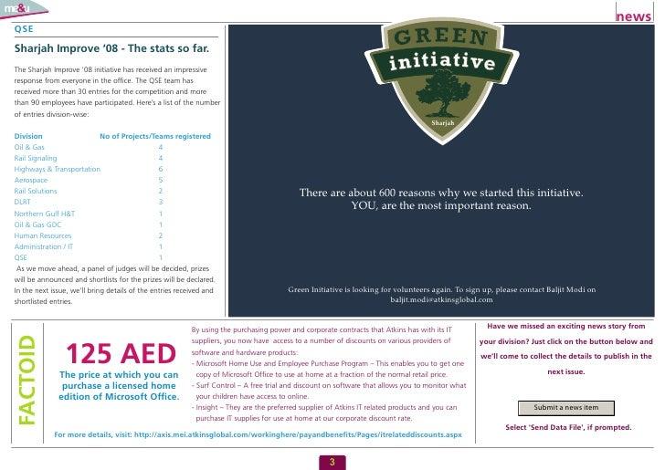 news QSE  Sharjah Improve '08 - The stats so far. The Sharjah Improve '08 initiative has received an impressive response f...