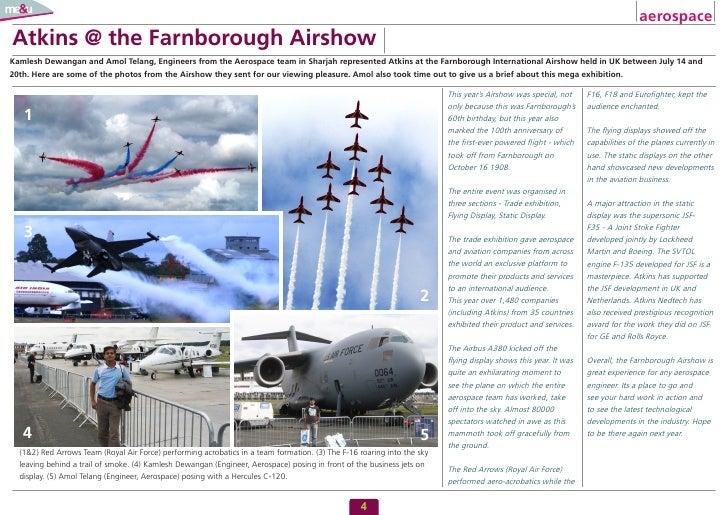 aerospace Atkins @ the Farnborough Airshow Kamlesh Dewangan and Amol Telang, Engineers from the Aerospace team in Sharjah ...