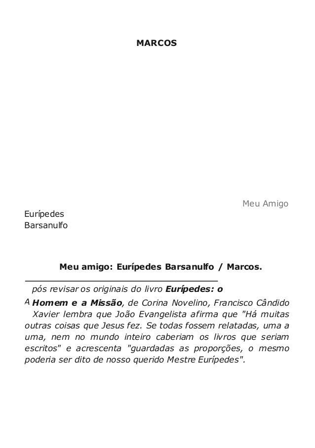 Meu Amigo Euriacutepedes Barsanulfo Portuguese Edition