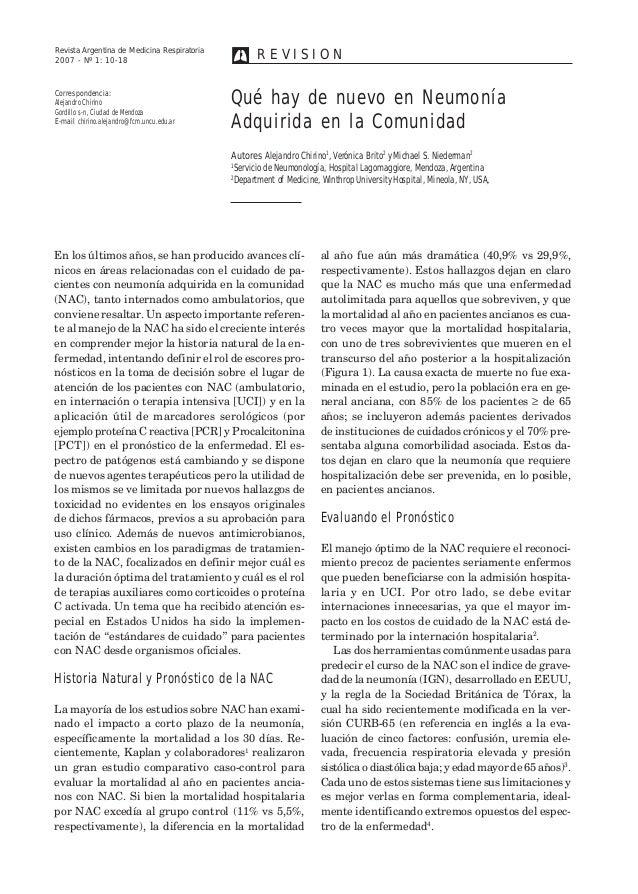 Revista Argentina de Medicina Respiratoria 10  R E V I Revista Argentina de Medicina Respiratoria SION  2007 - Nº 1: 10-18...