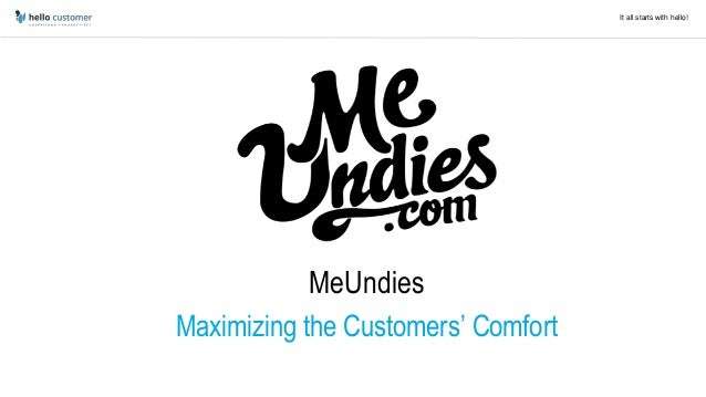 It all starts with hello! Unzipped! MeUndies Maximizing the Customers' Comfort