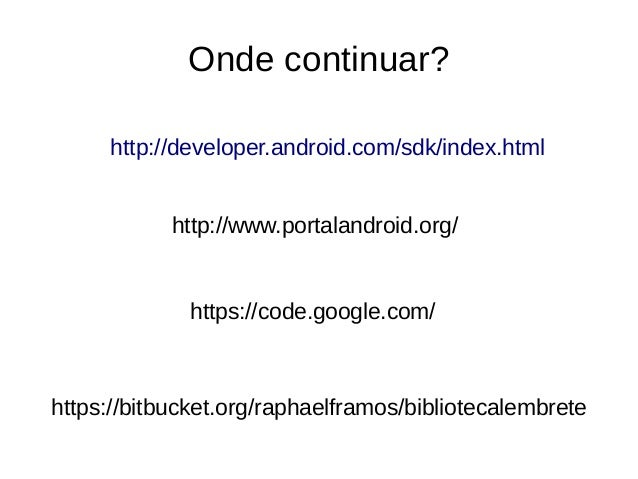 Meu primeiro app nativo para Android - Minicurso SCTI UENF