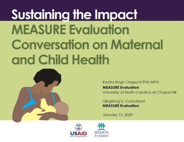 Sustaining the Impact: MEASURE Evaluation Conversation on Maternal and Child Health