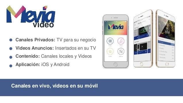 """Canales en vivo """"casting"""" a su TV local video Canales Privados: Para su negocio Marketing: Insertar video ads Casting: Chr..."""