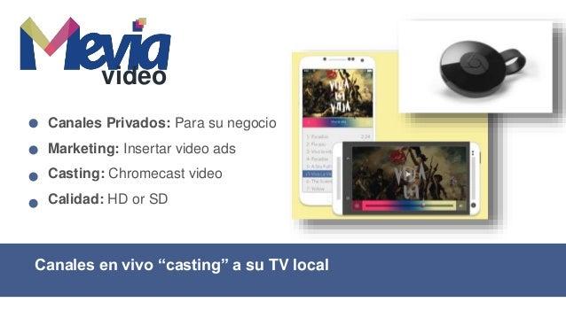 Canales de TV para su operadora de Cable Video for Cable TV Canales de TV: Sin satelite Anuncios: Insertados en vivo Tipos...