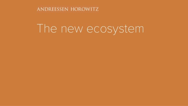 The new ecosystem
