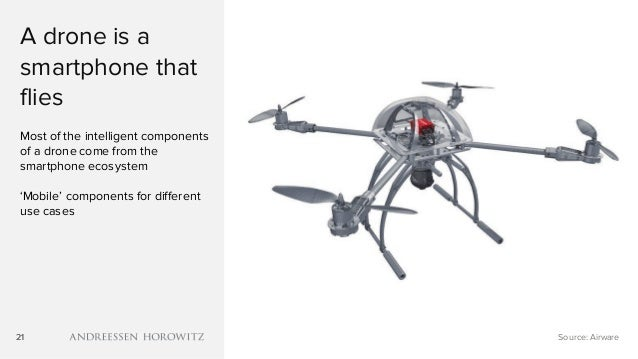 21 A drone is a smartphone that flies Most of the intelligent components of a drone come from the smartphone ecosystem 'Mo...