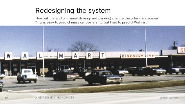 "30 Redesigning the system How will the end of manual driving (and parking) change the urban landscape? ""It was easy to pre..."