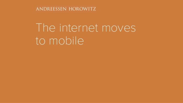 The internet moves to mobile