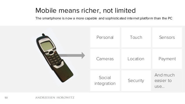 50 Mobile means richer, not limited The smartphone is now a more capable and sophisticated internet platform than the PC P...
