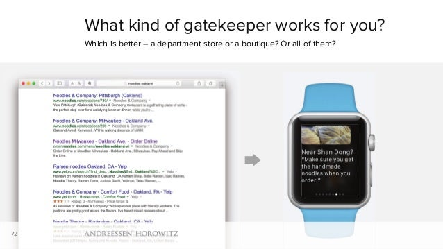 What kind of gatekeeper works for you? Which is better – a department store or a boutique? Or all of them? 72