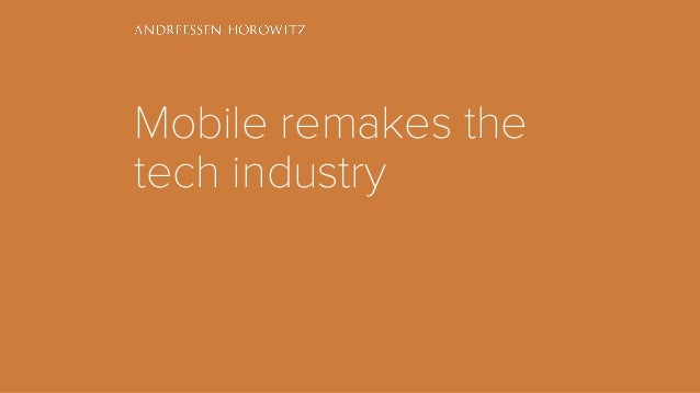 Mobile remakes the tech industry