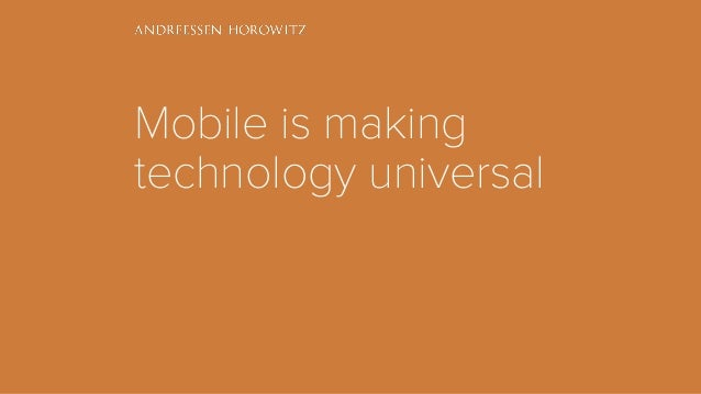 Mobile is making technology universal