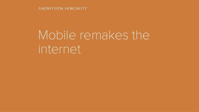 Mobile remakes the internet