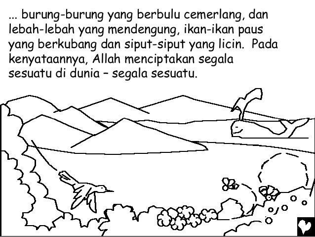 Mewarnai Cerita Bergambar Ketika Tuhan Membuat Segala Sesuatu Lask