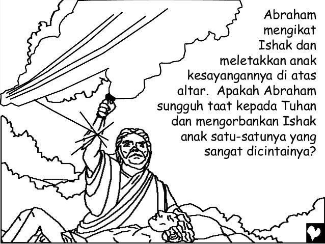 Mewarnai Cerita Rohani Bergambar Allah Menguji Kasih Abraham Laska