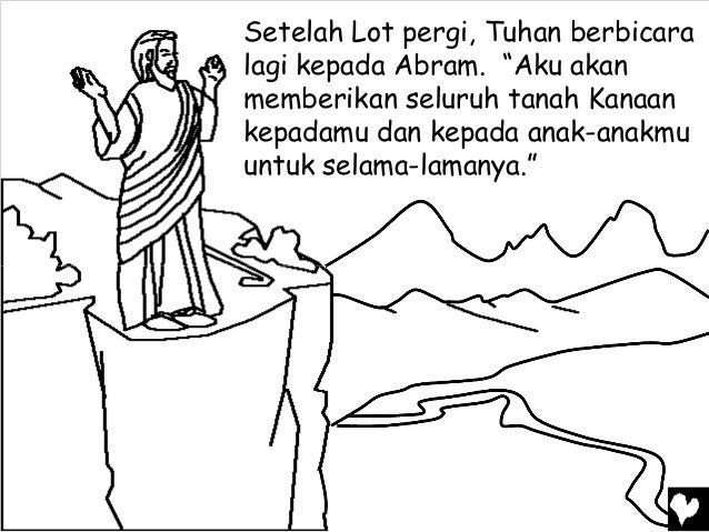 Mewarnai Cerita Rohani Bergambar Janji Tuhan Untuk Abraham