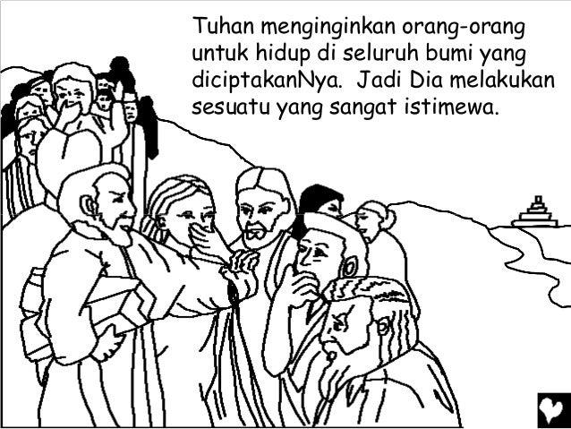 Mewarnai Cerita Rohani Bergambar Janji Tuhan Untuk Abraham Laskari