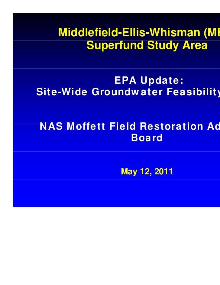 Middlefield-Ellis-Whisman (MEW)        Superfund Study Area        S     f     S             EPA Update:Site-Wide Groundwa...