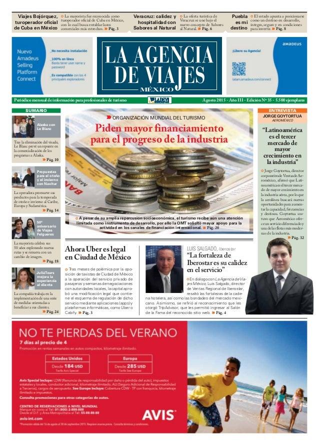 Periódico mensual de información para profesionales de turismo Agosto 2015 - Año III - Edición Nº 35 - 5.500 ejemplares En...