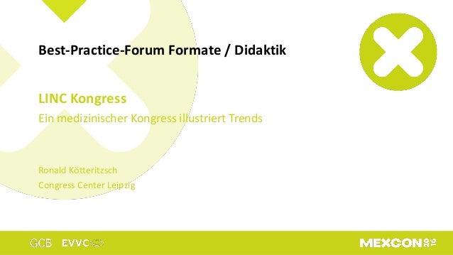 LINC Kongress Ein medizinischer Kongress illustriert Trends Ronald Kötteritzsch Congress Center Leipzig Best-Practice-Foru...
