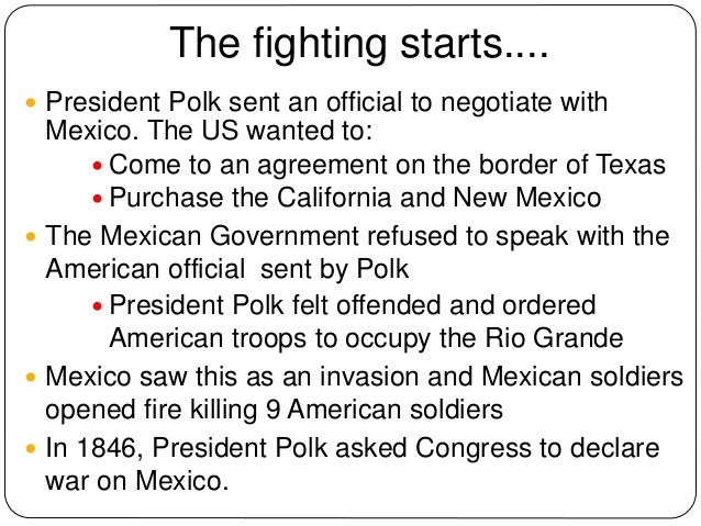 the cause of the mexican american war Buildup to war causes the basic cause of this war from the mexican side was the refusal to recognize the independence of tejas, which successfully revolted in 1836.