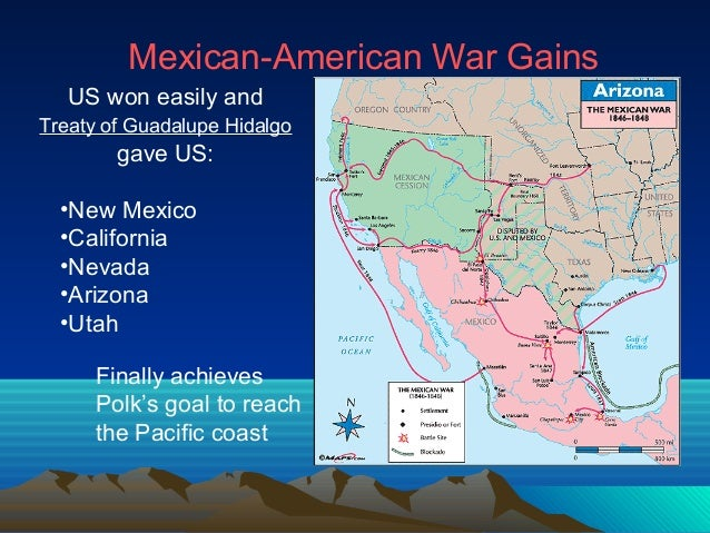 4 mexican american war gains us won easily andtreaty of guadalupe hidalgo