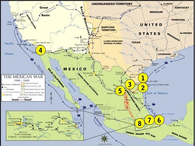 Mexican American War - Us map mexican war