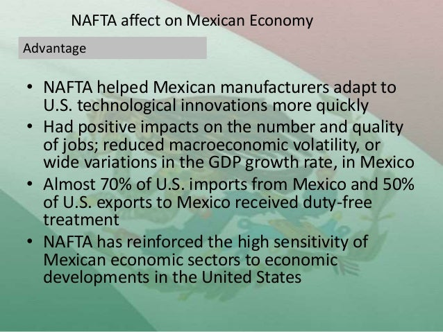 a study on the positive impact of nafta on the economy of canada america and mexico New economic analysis prepared for business roundtable concludes that termination of the north american free trade agreement (nafta) would result in the net loss of 1.