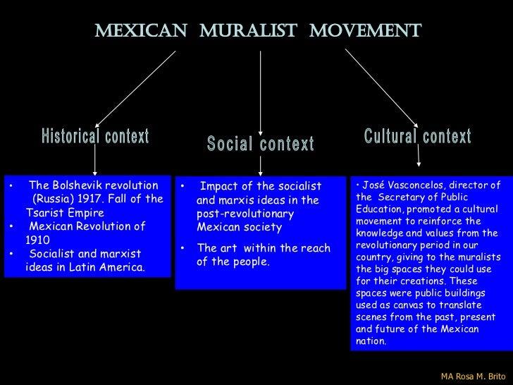 MEXICAN MURALIST MOVEMENT•    The Bolshevik revolution      •    Impact of the socialist   • José Vasconcelos, director of...