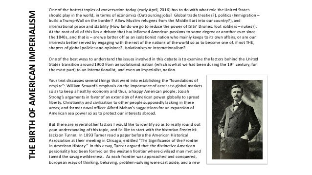 arguments against frontier thesis Frederick jackson turner the significance of the frontier in american history 1893 a paper read at the meeting of the american historical association.