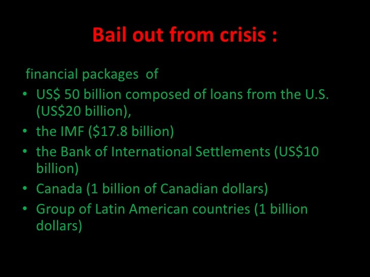 Essay mexican peso crisis