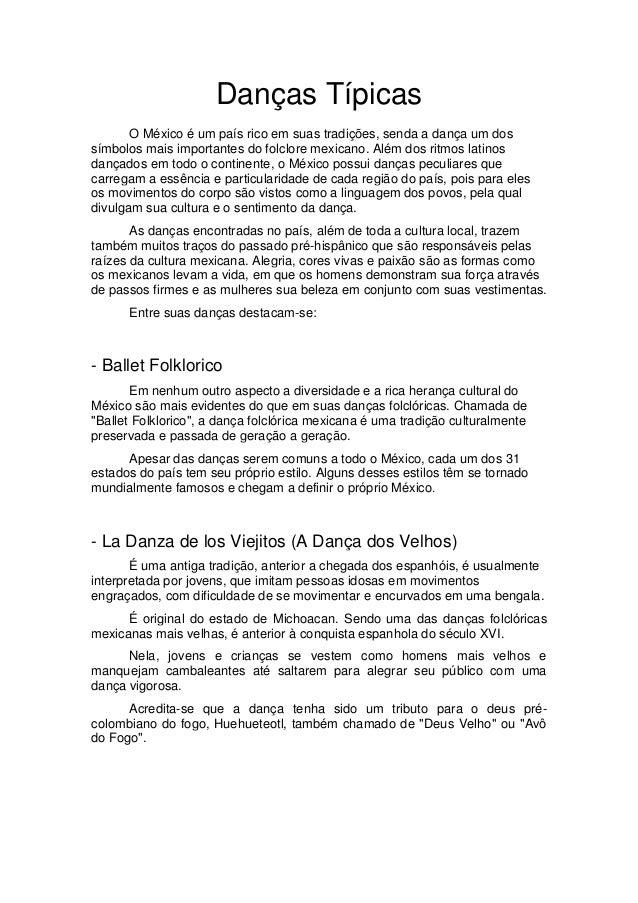 768bf2b49b93b Danças Típicas O México ...